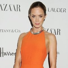 Emily-Blunt-Wearing-Orange-Dress