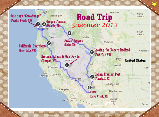 road map of pacific northwest Road Trip To The Pacific Northwest A Reel Chick road map of pacific northwest